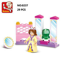 Sluban B0237 Pink Queen Private Room Figures Building Blocks Toy Fit with LEGO