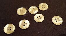 7 x 13mm Opalescent Sewing Buttons (Four Hole)