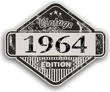 Aged Distressed Vintage Edition Yr 1964 Retro Cafe Racer Motorcycle car sticker