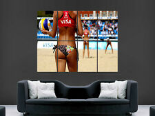 Sexy hot girl beach volleyball art mural grande image giant poster