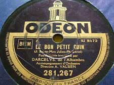 78 trs-rpm-Darcelys - Le bon petit coin- Odéon 281.267