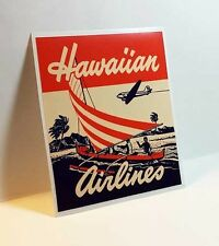Hawaiian Airlines Vintage Style Decal / Vinyl Sticker, Luggage Label