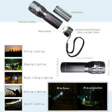 Outdoor Bright Torch Zoomable LED Flashlight Torch lighting