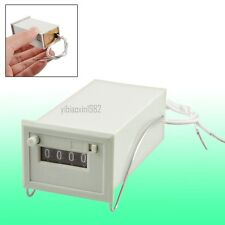 New DC 24V CSK4-DKW 4 Digits Totalizer Electromagnetic Pulse Counter