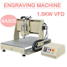 1.5kw cnc 6040 4 axis router DRILLING MILLING ENGRAVER mill MACHINE Desktop int