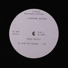 BUNNY WAILER: Arab Oil Weapon / Life Line 12 (Acetate 3/19/81) rare Reggae