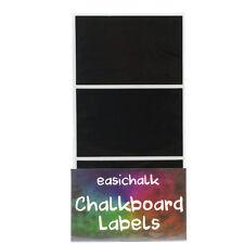 easichalk® 12 Large Rectangle Chalkboard labels.