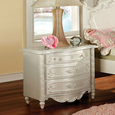 Victoria Fairy Tale Princess Bedroom Nightstand Night Stand Wood in Pearl White