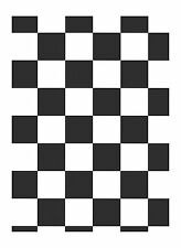 Large 3-1/2 Inch Black & White Checks Wallpaper IN2643