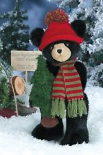 "14"" AL PINE*Bearinton Black Teddy Bear*NEW*NWT*Winter*CHRISTMAS TREE*173224"