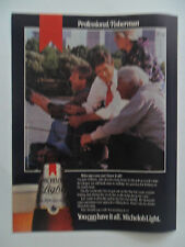 1985 Print Ad MICHELOB Light Beer ~ Professional Fisherman