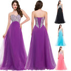 2016 Luxury Beaded Long Formal Wedding Ball Gowns Evening Prom Bridesmaid Dress