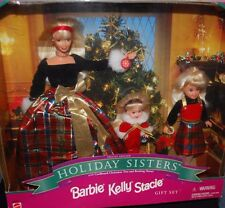 MATTEL SPECIAL EDITION CHRISTMAS HOLIDAY DOLLS SISTERS BARBIE KELLY STACIE GIFT