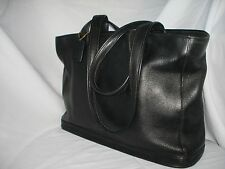 COACH EXTRA LARGE BLACK LEATHER BAG BRIEFCASE OFFICE BAG TOTE