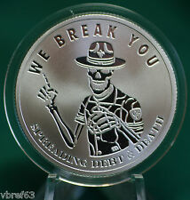 "2015 Silver Shield ""WE BREAK YOU"" -  99.9% silver PROOF -#10 Pyramid of Power"