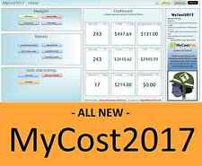 MyCost2017 - Track eBay Profit, Sales, Business Expenses, Fees Excel Spreadsheet