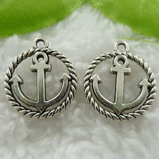 Free Ship 130 tibet silver anchor charms 28x15mm #556