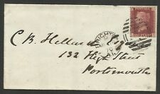 1858 1d Red Plate 121 (LE) on Cover