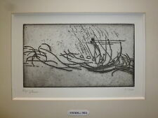 Henry Moore gravure originale signée art abstrait abstraction storm at sea