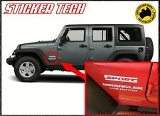 JEEP WRANGLER UNLIMITED SPORT FENDER GUARD JK RUBICON VINYL STICKER DECAL KIT