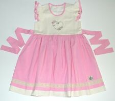 Bourgeois Bebe 8 10 Dress Sweet Chéri Pink Ivory Lace Heart Boutique Girls pr1