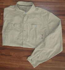 MERRELL OPTI-WICK UPF 30+ KHAKI VENTED HIKING FISHING TRAVEL SHIRT MEN'S SZ L