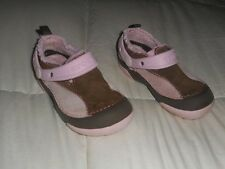 Girls Crocs DAWSON Brown/Pink Lined Clog Shoes Size 9  Used