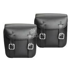 Leather Motorcycle Saddlebag For Harley Davidson Dyna Glide Fat Bob Street Bob