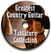 GREATEST COUNTRY GUITAR TABS COLLECTION TABLATURE SONG BOOK SOFTWARE CD