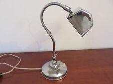 LAMPE ART DECO EN LAITON NICKELE ANNEES 30 40