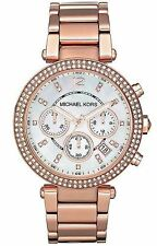 Michael Kors Da Donna' Parker Oro Rosa Bracciale Cronografo Firmato Orologio