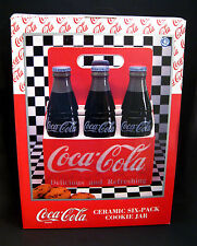 Coca-Cola Brand Six-Pack Ceramic Cookie Jar NEW From Enesco 1996----Discontinued