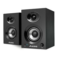 2x Alesis Elevate 3 Professional 60W Active Studio Monitor Speakers DJ + Leads