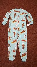 NICK & NORA Downhill Sock Monkey one piece fleece pajama SMALL union suit onesie