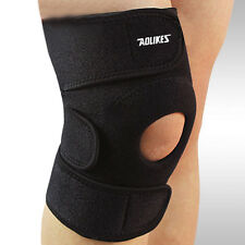 Adjustable Knee Patella Support Brace Sleeve Wrap Cap Stabilizer Sports Black #S
