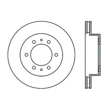 Disc Brake Rotor-High Performance Slotted Centric fits 06-08 Hummer H3