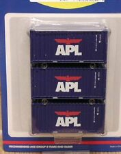 Athearn 20' containers - APL (large logo) - HALF CASE lot