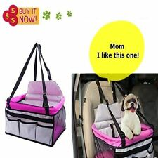 Cute Dog Booster Car Seat Pink Dog Booster Seat Safety Belt Carrier 4 Small Dog