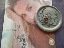 WAXING POETIC Fortitude Letter M Wax Seal Sterling Silver Charm