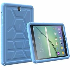 Poetic TurtleSkin Corner/Bumper Case Cover for Samsung Galaxy Tab S2 9.7 Blue