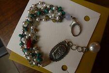 Jes Maharry EARTH, FIRE, SEA, SKY Bracelet pearl, turquoise, coral