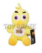 "FIVE NIGHTS AT FREDDY'S PLUSH - SMALL YELLOW DUCK SOFT DOLL 9"" NEW [CHICA]"