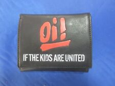Oi! If the kids are united real leather wallet Geldbörse echt Leder mit Kette
