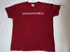 Nike VTG 90's Grey Tag Striped Maroon T Shirt Red Retro XL