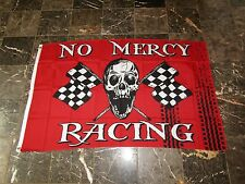 3x5 Jolly Roger Pirate No Mercy Racing Flag 3'x5' Banner Brass Grommets