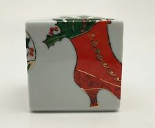 Rosenthal Studio-Line Andy Warhol Merry Christmas Cube Candle Holder Shoe Print
