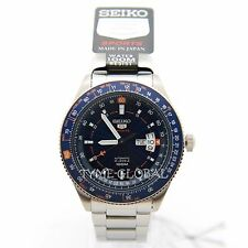 Seiko 5 Sport SRP609J1 Blue and Black Dial Avator Automatic Men's Japan Watch