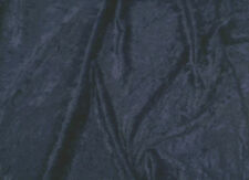 Navy Blue crushed velvet/velour fabric/material