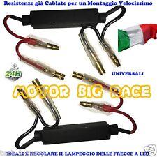 2 RESISTENZA RESISTENZE CABLATE  FRECCE LED n.2  per MOTO DUCATI BMW AUGUSTA