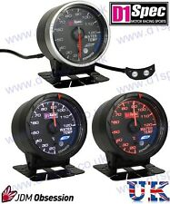D1 SPEC WATER TEMPERATURE GAUGE 60mm BLACK IMPREZA WRX STI SUPRA MR2 EVO 350Z